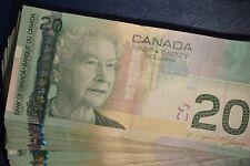 Canada 2004 Series $20.00 TWENTY Dollar Bill - circulated ~ one note from bundle