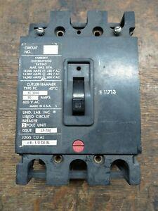 Cutler-Hammer FC3090 Circuit Breaker 3-Pole 90Amp 600VAC Flawed Tested