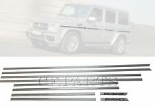 SILVER carbon fiber side molding trim (10pcs) for Mercedes G-class W463 G550 G63