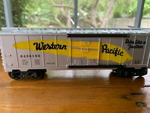 K Line Western Pacific Classic Feather Route Boxcar K-6436