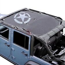 SunShade Bikini Soft Top Mesh Cover For 2007-2017 Jeep Wrangler JK JKU 4-Door
