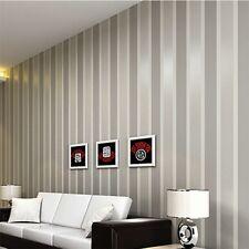 Luxury Non-woven 3D Vertical Stripe TV Livingroom Home Decor Wall Roll Paper @H