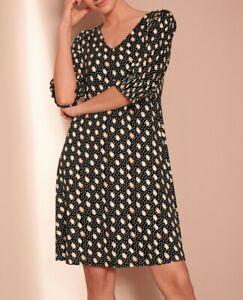NEXT Black Spot Polka Dot Vintage Style Dress Size 22 BNWT RRP £25 Summer Work
