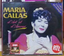 MARIA CALLAS D'ART ET D'AMOUR BOX DOUBLE COMPACT DISC EMI RECORDS 1990