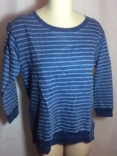 NWT Theory $105 Cotton Striped Crackled Top Size Small Runs Big