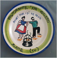 Piatto Buon Ricordo - Miane Da Gigetto Muset par i dì de festa - O85 Present. ?