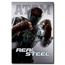 "Real Steel 12""x8"" Atom Classic Movie Silk Poster Cool Gifts Shop Room Decal"
