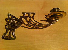 Antique Art Nouveau Brass Single Piano Wall Candle Sconce Holder Lights (GR431)