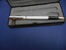 STYLO PLUME WATERMAN PLUME OR 18 carats LAQUE BLANCHE - NEUF