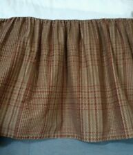 Ralph Lauren CHAPS Home Summerton FULL Size Bedskirt Brown Houndstooth Plaid
