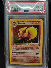 PSA 8 - 1999 Pokemon Jungle - Flareon 3/64 1st Ed BGS CGC