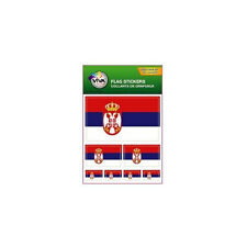 SERBIA , SET OF 7 COUNTRY FLAG VINYL CAR STICKERS , 3 SIZES .. NEW