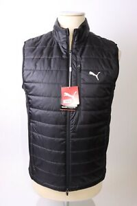 Puma Men's Quilted Primaloft Vest - L - Black