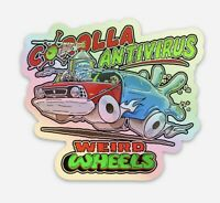 COROLLA ANTIVIRUS Limited Edition WEIRD WHEELS holographic sticker decal ONLY 40