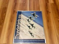 USAF Thunderbirds F-16 Fighting Falcon Poster Signed By Nine