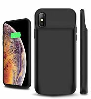 NEW iPhone XR XS MAX XS X Battery Case 6000mAh Rechargeable Charging Cover AU