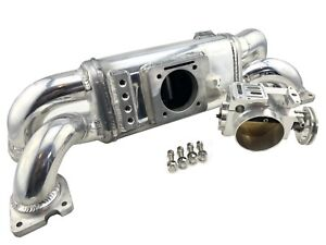 Air Intake Manifold & 70mm TB For 2001-07 Subaru Impreza WRX STi Turbo EJ20 EJ25