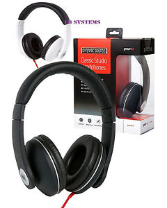 NEW Groov-e Classic Studio Headphones Powerful Comfy for mobile phones computer