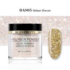 10ml BORN PRETTY Gold Glitter Acrylic Powder Dust Nail Art Decoration Tip DIY