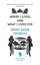 Where I Lived, and What I Lived For (Penguin Great Ideas)-ExLibrary