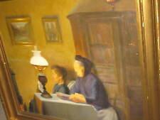 HANSEN Immanuel, 1859 Due Donna presso Fuoco del camino