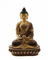 Soprammobile Tibetano Budda Amitabha Rame E Oro Nepal Budda AFR9-2472