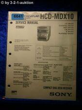 Sony Service Manual HCD mdx10 CD RECEIVER (#6641)