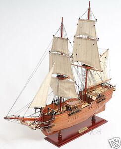 """Brig Lady Washington Model Tall Pirate Ship 25"""" Boat Assembled Sailboat New"""