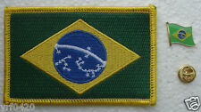 Brazil National Flag Pin and Patch Embroidery
