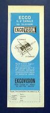 A705-Advertising Pubblicità-1962-EKCO-VISION PER SECONDO CANALE