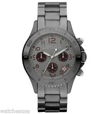 Marc Jacobs MBM3160 Women's Rock Gunmetal Grey Dial Chronograph Watch