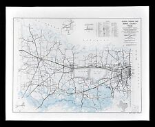 Texas Map - Bowie County - Texarkana Boston De Kalb Wright Patman Lake Red River