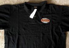 Harley Davidson Oval Logo Black Polo golf Shirt NWT Men's XL