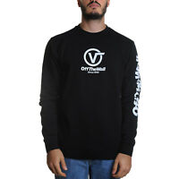 Vans Distorted Performance Crew Felpa Uomo VN0A456DBLK1 Black