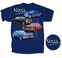 64 65 66 67 69 70 72 Chevy ll Nova SS BBC SBC Drag Race Car Mens Blue T Shirt