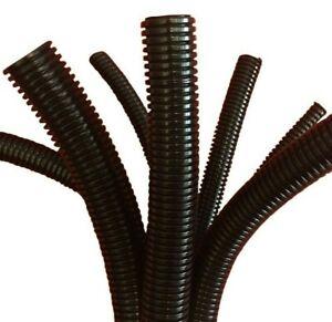 Conduit Split & Non Split Black Flexible Cable Tidy Tube Trunking
