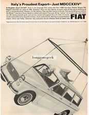 1965 Fiat 1100D Station Wagon Italy's Proudest Export Vintage Ad