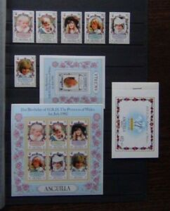 Anguilla 1982 21st Birthday Princes of Wales set M/S Sheetlet & Booklet MNH