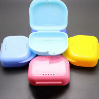 Dental Orthodontic Retainer Denture Storage Case Box Mouthguard Container NTPK