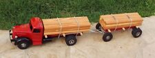 "Smith-Miller Single Axle Lumber Truck W/Pup Trailer HUGE 37""L Mack L Model Rare"