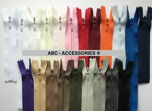 """Invisible zip,4""""6'8'10'12'14'16'..24'-BUY 5 GET 5FREE-Woven,Close-end,Concealed"""