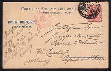CARTOLINA Militare in franchigia 1916 da PM 5°Div. a Cusano s.Seveso (FILm)Data!