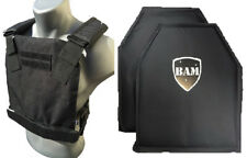 Level IIIA 3A | Body Armor Inserts | Bullet Proof Vest | BAM Low Pro Vest -BLK
