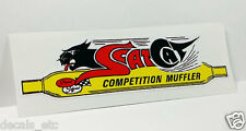 SCATCAT COMPETITION MUFFLERS Vintage Style DECAL, Vinyl STICKER, racing, hot rod
