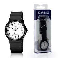 Reloj de Pulsera Casio Clásico para Hombres Damas Estilo Casual Negro MQ24-7BLL