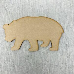 Bear Wooden MDF Shape Sizes 10cm - 40cm Animal Woodland Creatures Craft