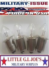 Fulton Military Issue Angle Head Flashlight MX-991/USA Light Bulbs (4) Each
