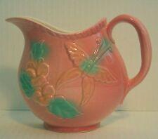 Vintage Hull Art Pottery Pink SunGlow Pitcher Wall Pocket USA #81