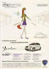 Publicité Advertising  2010 LANCIA YPSILON  platino 1.2 60 ch