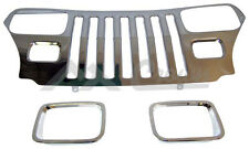 Crown RT Off-Road APPLIQUE STAINLESS STEEL GRILLE w BEZ YJ 55056587STK RT34045